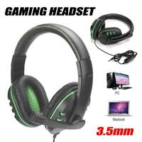 3.5mm Wired Gaming Headset Heavy Bass Headphone Microphone for PS4 PC Laptop 32Ω