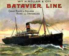 021 Batavier Line Vintage Photo Print A4