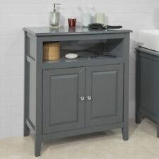 SoBuy® Meuble Bas de Salle de Bain Armoire Toilette Buffet Commode FRG204-DG, FR