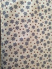 Fabric-Henry Glass- Cottage Shirtings -Blue Small Flowers on Cream