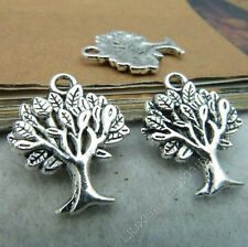 10pc Retro Tibetan Silver TREE Pendant Charms Beads Accessories Wholesale B52P