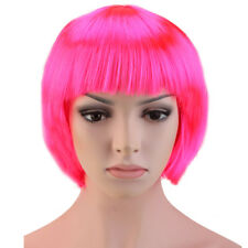 Women Straight Curly Hair Full Wigs Synthetic Cosplay Party Heat Resistant BOB
