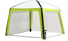 QUALITY BRUNNER Inflatable AIR GAZEBO Tent Shelter with Sides and Pump No Poles