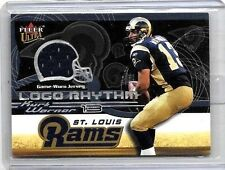 KURT WARNER 2002 FLEER ULTRA LOGO RHYTHM GAME USED JERSEY