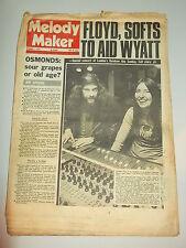 MELODY MAKER 1973 NOVEMBER 3 PINK FLOYD THE OSMONDS JETHRO TULL BOB DYLAN