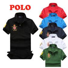 Men Polo Shirt Summer Solid Casual T-Shirt Short Sleeve BlendColor Terylen Lape