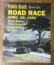 Pebble Beach Road Race Poster, 1952