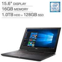 """Dell Inspiron 15: Core i7-7700HQ, 16GB RAM, 1TB HDD + 128GB SSD, 15.6"""" Full HD"""