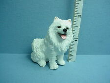 Dollhouse Miniature Somoyed Dog White #A949 Falcon 1/12th Scale Made of Resin