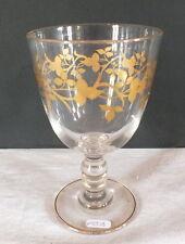 verre à pied ancien décor or 19ème glass
