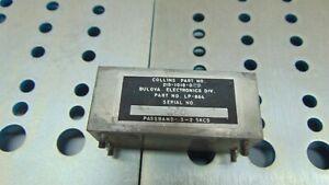 Collins Radio Passband Filter 210-1018-029 Bulova 3 to 2.5  KC