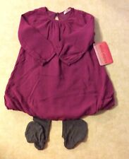 NWT Ella Moss Dress W/Tights 18-24 Mth Cranberry