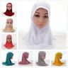 Child Kids Girls Islamic Muslim Hijab Scarf Rhinestone Headwear Arab 12PCS