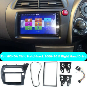 Double DIN Fascia for Honda CIVIC Car Radio Panel Frame Trim Kit With ISO Wiring