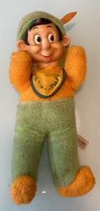 "Vintage Gund J.Swedlin Walt Disney PINOCCHIO Rubber Face Stuffed Doll Toy 13"""