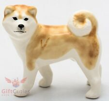Porcelain Figurine of the Akita dog