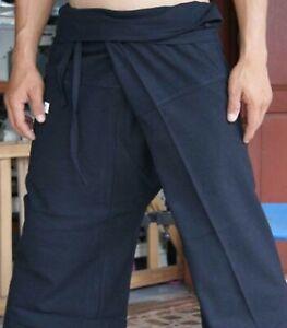 100% Cotton Thai Massage Trousers Pants Wrap Around Plus Fisherman Maternity