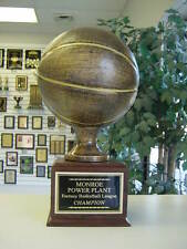FANTASY LARGE BRONZE RESIN BASKETBALL 16 YEAR PERPETUAL TROPHY VERY NICE!