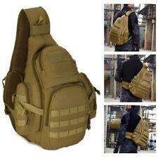 Tactical Military Sling Chest Pack 14inch Laptop Backpack Crossbody Shoulder Bag