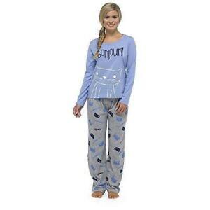 Ladies Soft Touch Jersey Long Sleeve Pyjama Set