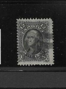"US Scott #90 used 12c black Washington bank note ""E"" grill 1868 cork cancel f/vf"