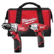Milwaukee 2494-22 M12 12 Volt Cordless LITHIUM-ION 2 Tool Combo Kit