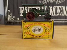 Matchbox Models of YesterYear No.11 aveling & porter steam roller blue roof
