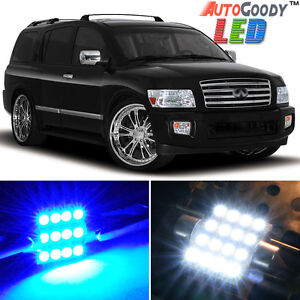 17 x Premium Blue LED Lights Interior Package Kit for 04-10 Infiniti QX56 + Tool