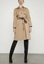 NWT BCBG MAXAZRIA Belted Long Trench Coat Colore Beige  Size L