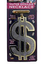 Large Dollar Sign Medallion Pimp Gangster Big Daddy Necklace Fancy Dress