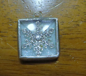 JEWEL KADE Charm - Glitter Snowflake / Snowflake Stamp - No JK Hang Tag