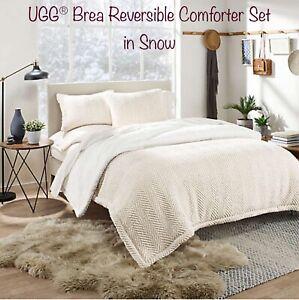 UGG® Brea Reversible Queen Comforter Set In Snow-4 Pc- See Details!!