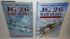 2 VOLUMES WW2  JG 26 War Diary 1939-45 1996/2007 Printing HC op German Fighters