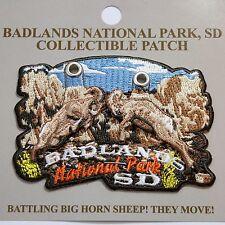 Official Badlands National Park Souvenir Patch Movable Bighorn South Dakota