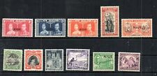 BRITISH NIUE SELECTION OF 11 DIFFERENT STAMPS.