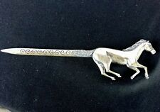 Native American Cast Horse Letter Opener Sterling Silver