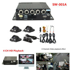 4CH Panoramic Car Mobile DVR Security Video Recorder Real-Time SD+ 4 CCD Cameras
