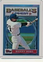 1993 Topps Finest #79 Sammy Sosa Chicago Cubs Baseball Card