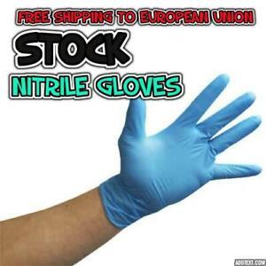 Nitrile blue gloves LARGE size,Powder-Latex free FREE SHIPPING TO EUROPEAN UNION