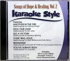 Songs Of Hope & Healing Volume 2 Karaoke Style New Cd+G Daywind 6 Songs