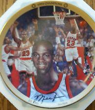 "Michael Jordan Collection ""1993 Champions"" Upper Deck Bradford Plate w/Coa"