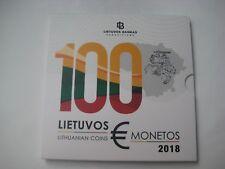 "KMS Kursmünzensatz Litauen 2018 BU ""Jahrgangssatz 5,88 €"" im Blister - 2 x 2 €"