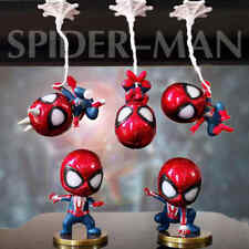 5pcs/set Cute Spiderman Mini Figure Marvel Model Doll Collectible toys