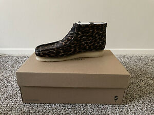 Wallabee Boot Black Leopard Print