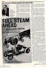 1977 ADVERT Schuco Toys Co Steam Engine Log Timber Hauler Brass Car