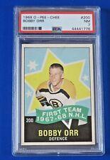 1968 O-PEE-CHEE BOBBY ORR All-Star HOCKEY CARD #200 ~ PSA 7
