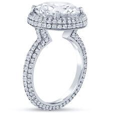 6.10CTW Forever One Moissanite & Diamond Engagement Ring Eternity R12M 14K