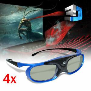 4X Wiederaufladbare 3D-Brille Für Alle 3D-Dlp-Projektoren Optoma Benq Acer Dell