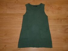 Gudrun Sjoden Green Round Neck Sleeveless Felted Merino Wool Jumper Sweater M P