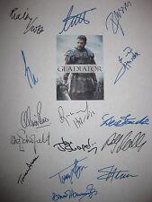 Gladiator Signed Film Script X15 Ridley Scott Russell Crowe Joaquin Phoenix rpnt